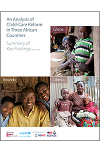 An analysis of childcare reform in three African countries: A summary of findings