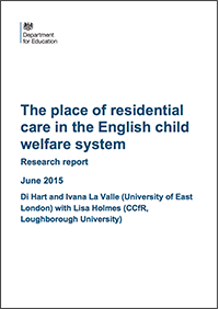 The place of residential care in the English child welfare system